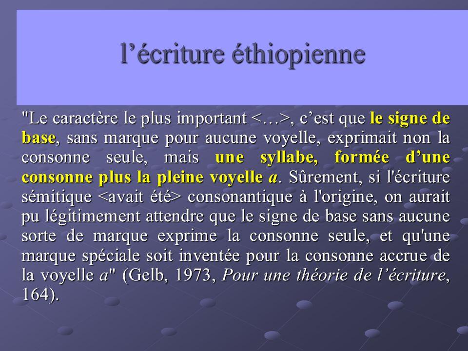 l'écriture éthiopienne