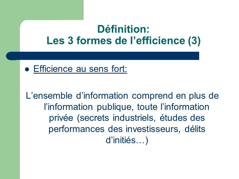 Définition: Les 3 formes de l'efficience (3)