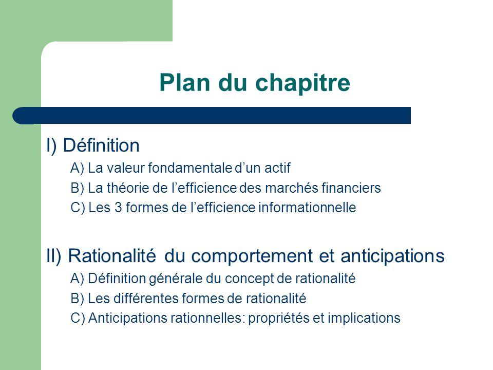 Plan du chapitre I) Définition