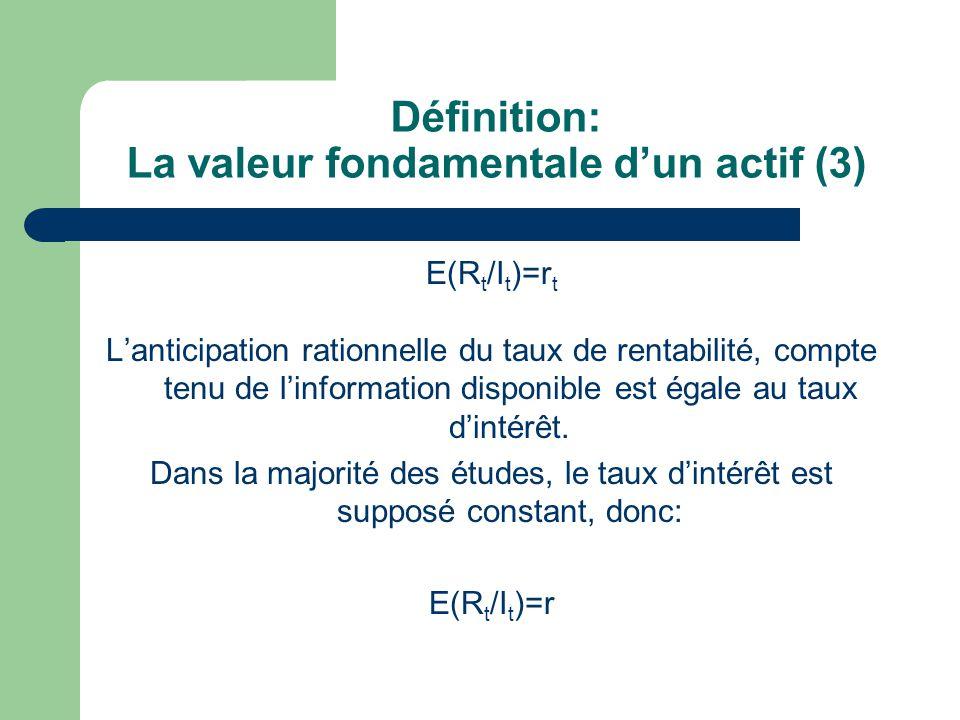 Définition: La valeur fondamentale d'un actif (3)