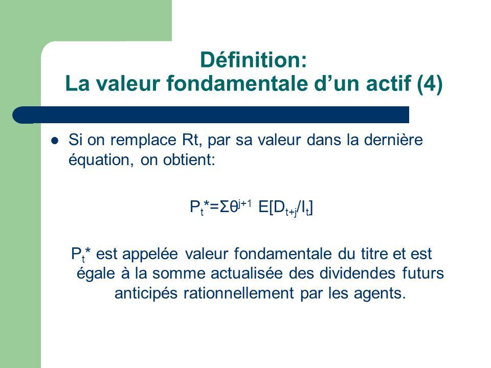 Définition: La valeur fondamentale d'un actif (4)