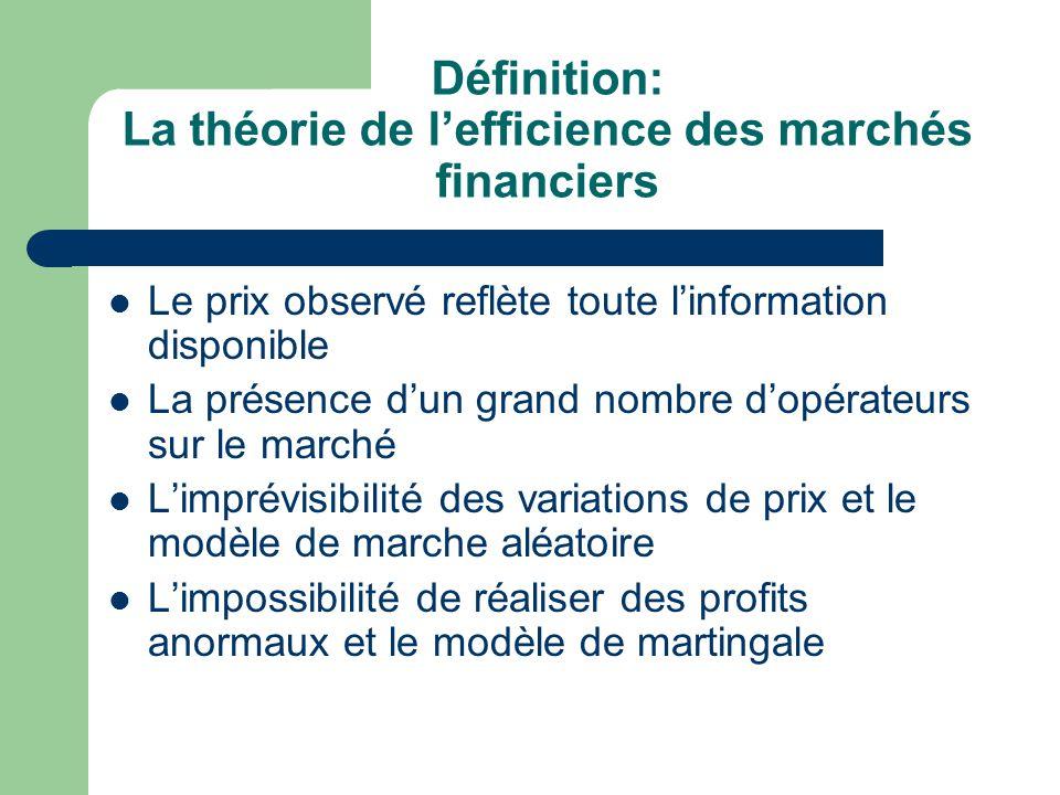 Définition: La théorie de l'efficience des marchés financiers