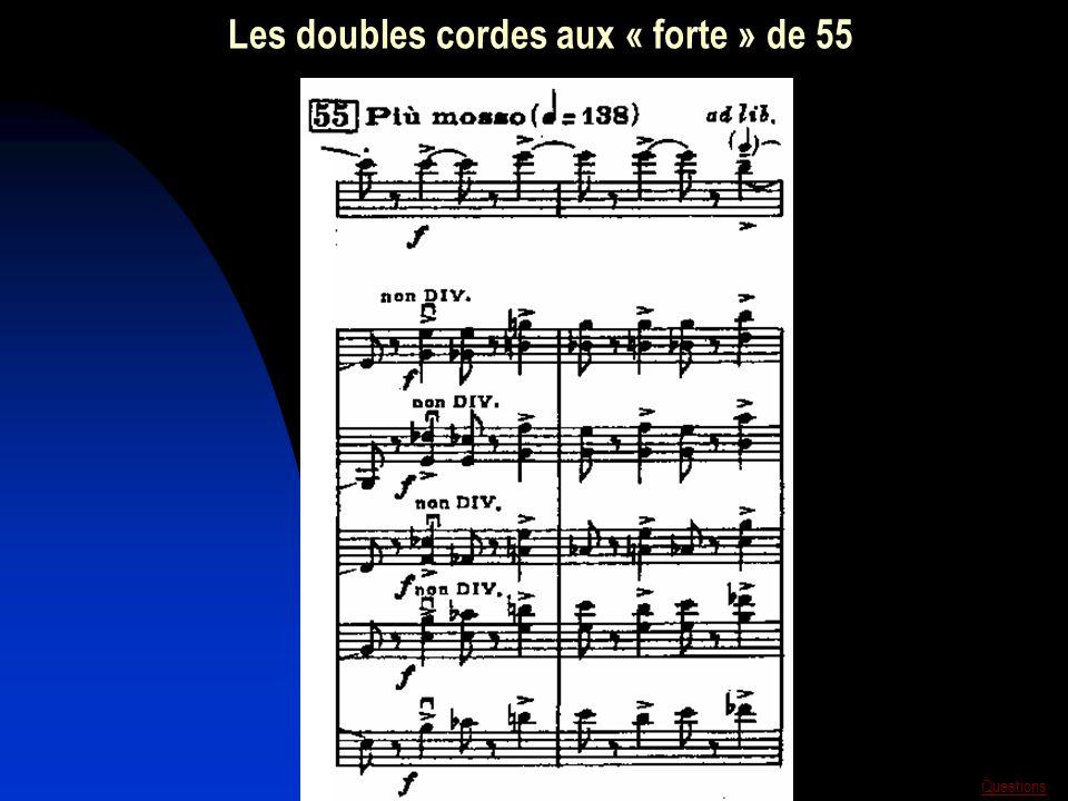 Les doubles cordes aux « forte » de 55