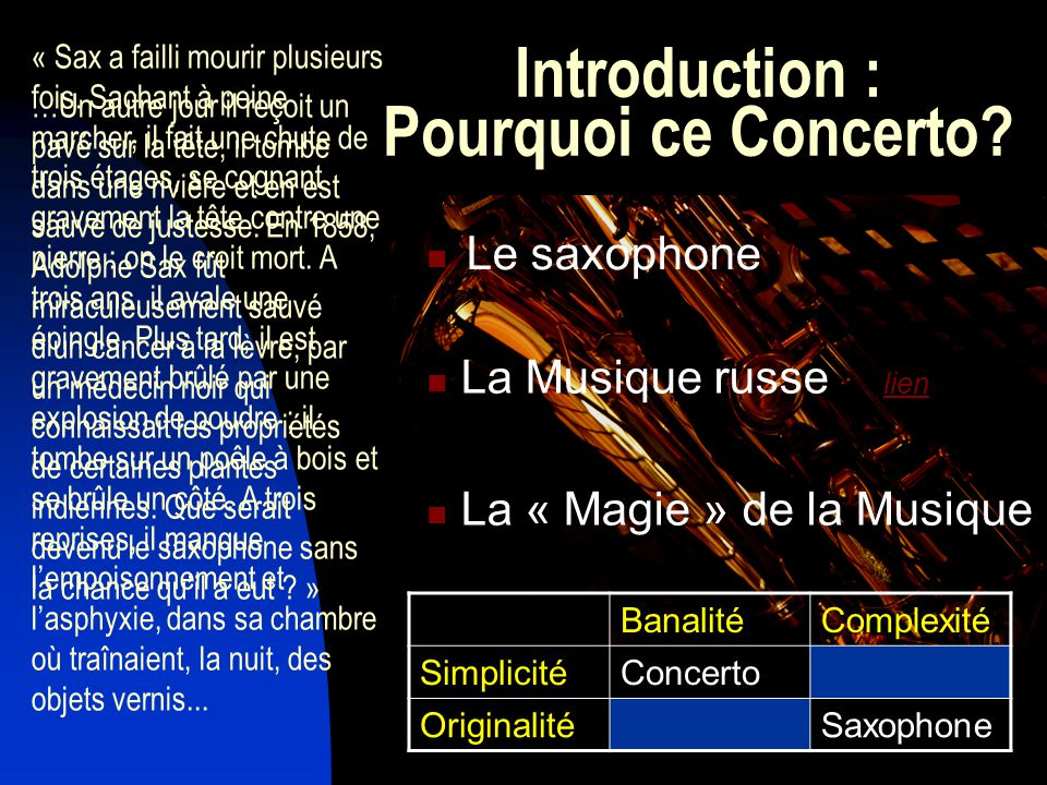 Introduction : Pourquoi ce Concerto