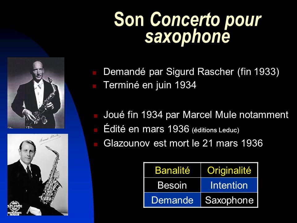 Son Concerto pour saxophone