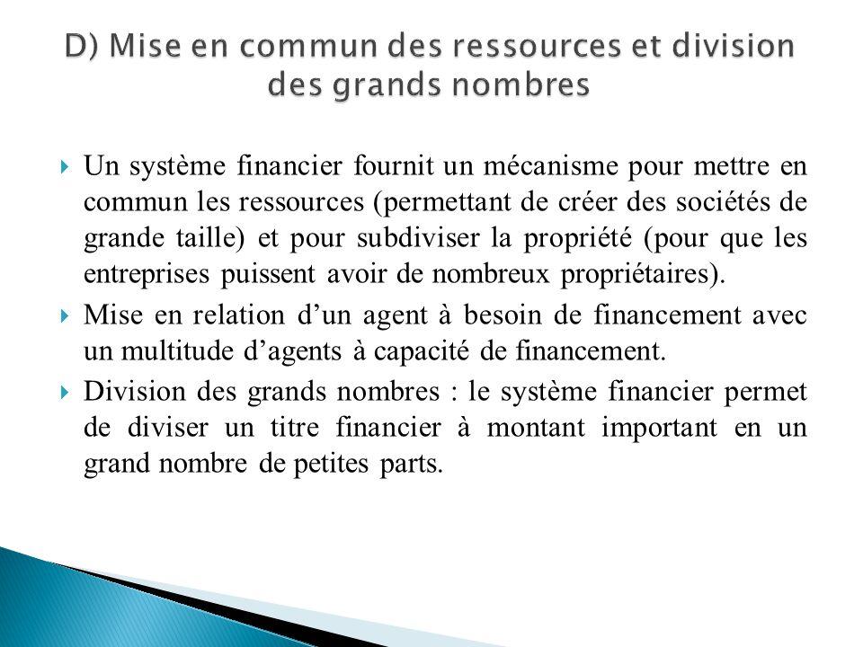D) Mise en commun des ressources et division des grands nombres