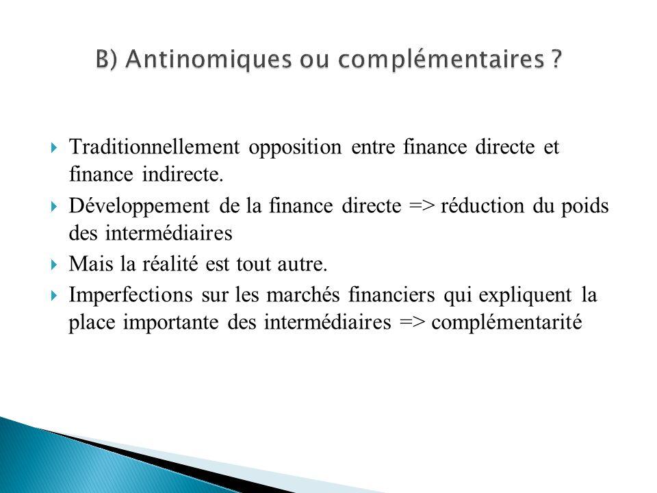 B) Antinomiques ou complémentaires