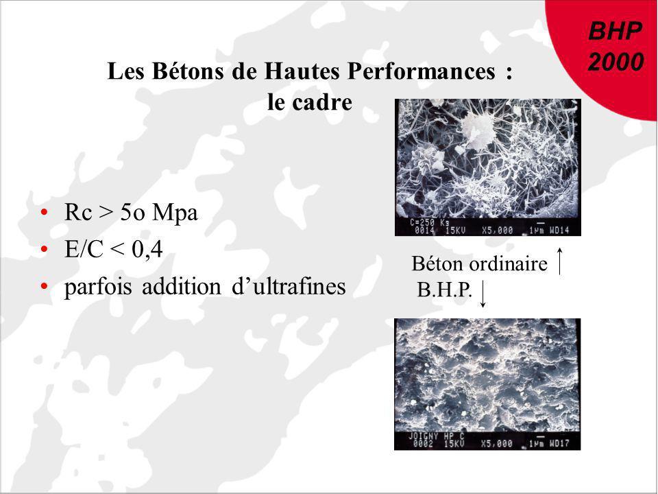 Les Bétons de Hautes Performances : le cadre