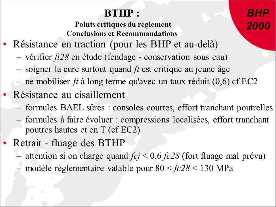 BTHP : Points critiques du règlement Conclusions et Recommandations