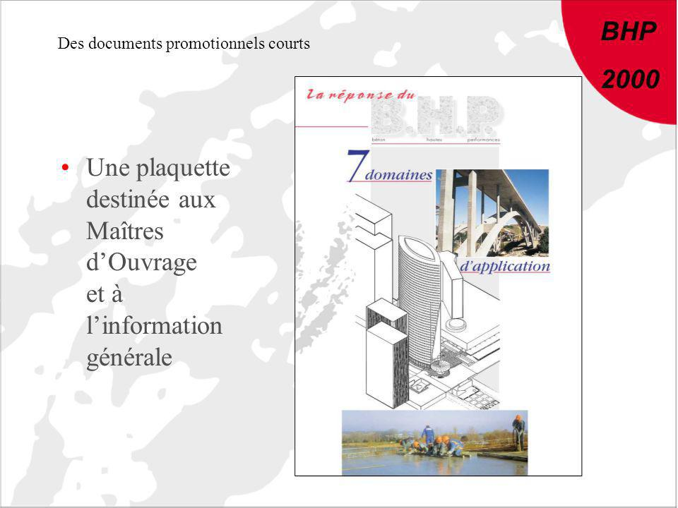 Des documents promotionnels courts