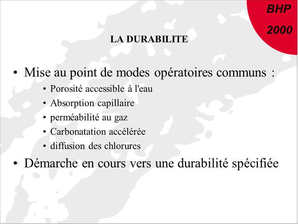 Mise au point de modes opératoires communs :