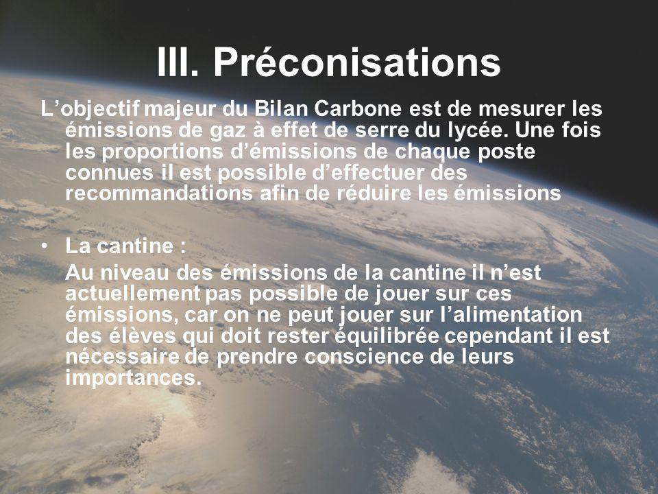III. Préconisations