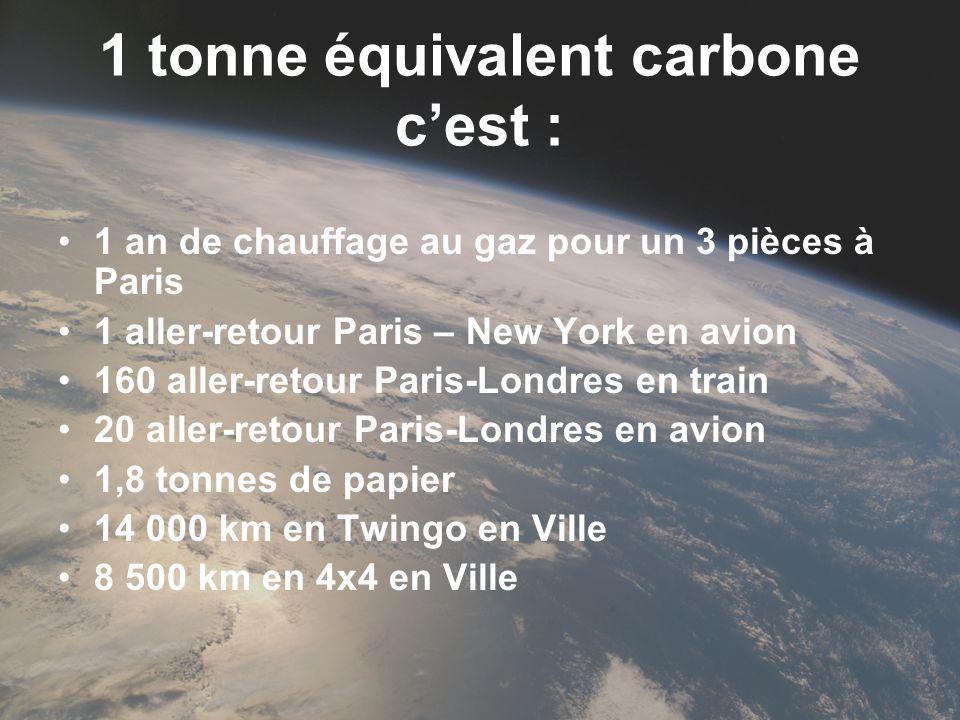 1 tonne équivalent carbone c'est :