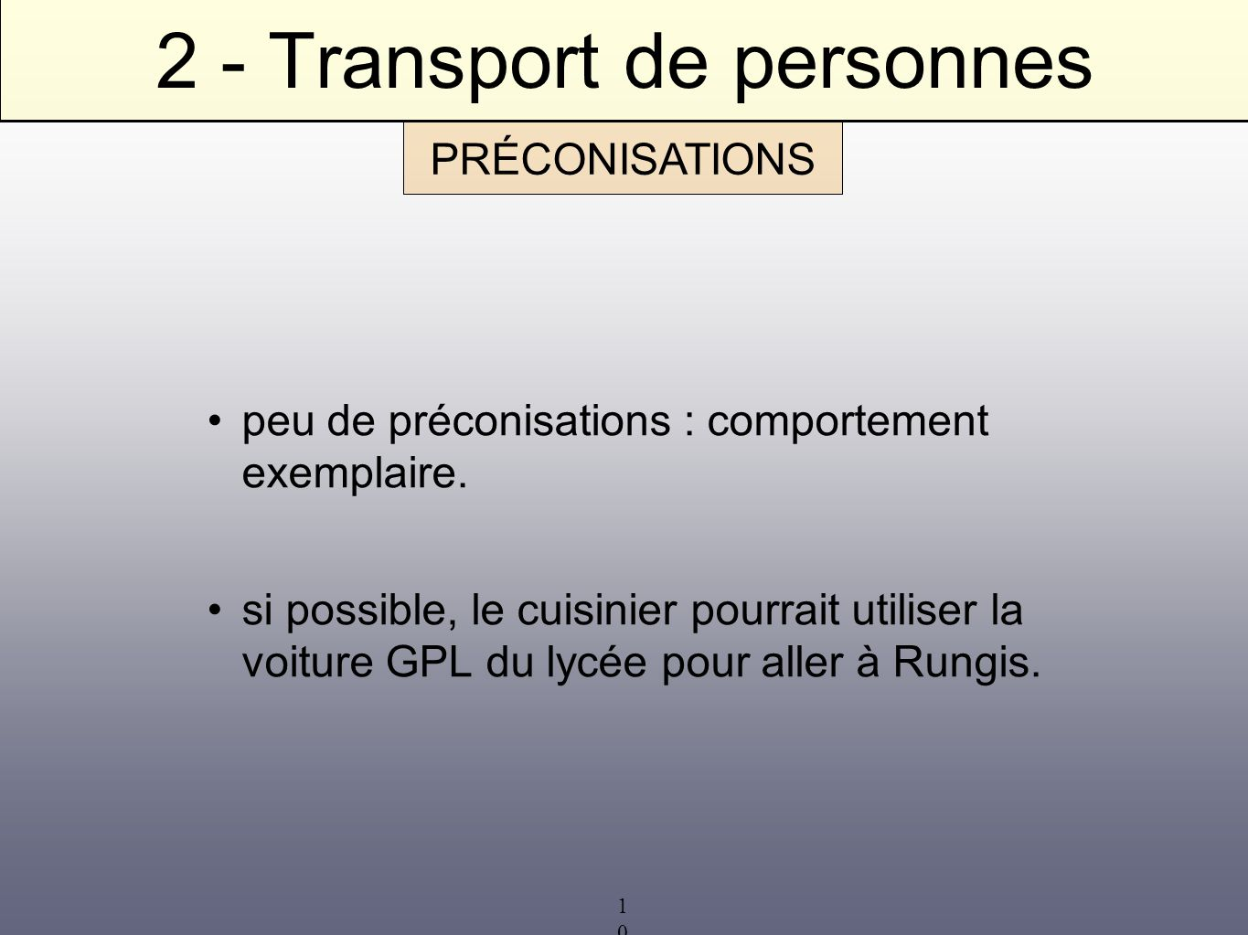 2 - Transport de personnes