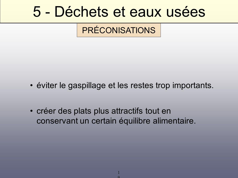 5 - Déchets et eaux usées PRÉCONISATIONS