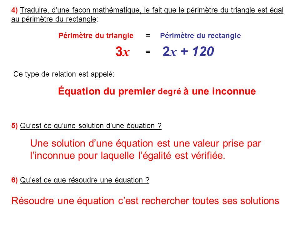 Équation du premier degré à une inconnue