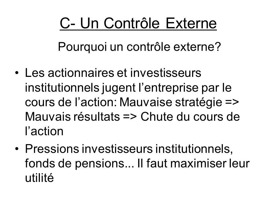 Pourquoi un contrôle externe