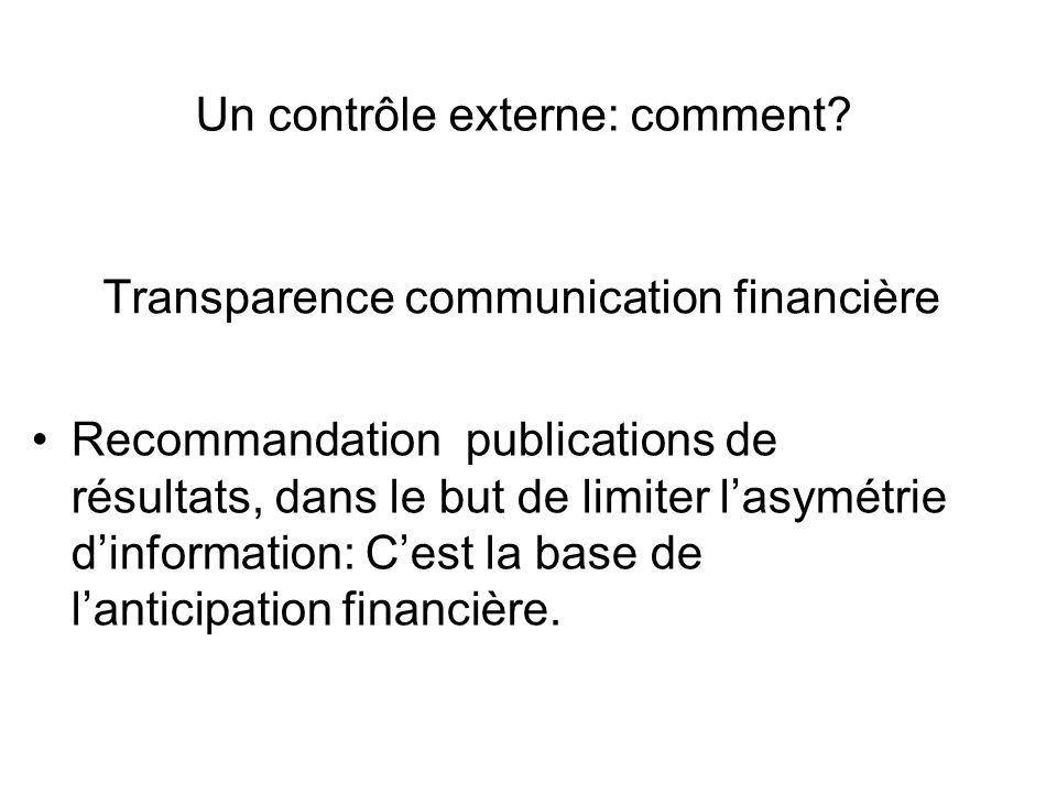 Transparence communication financière