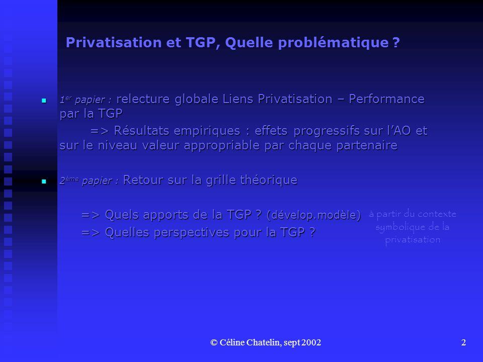 Privatisation et TGP, Quelle problématique