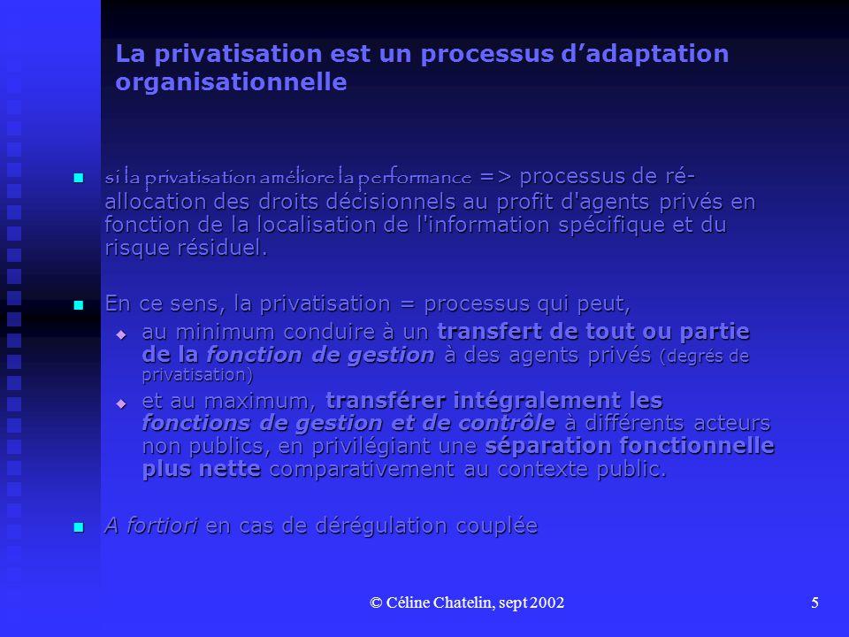 La privatisation est un processus d'adaptation organisationnelle