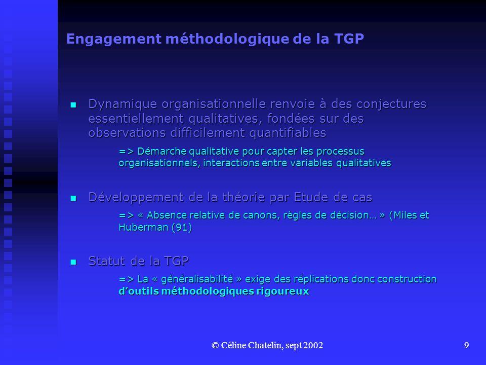 Engagement méthodologique de la TGP