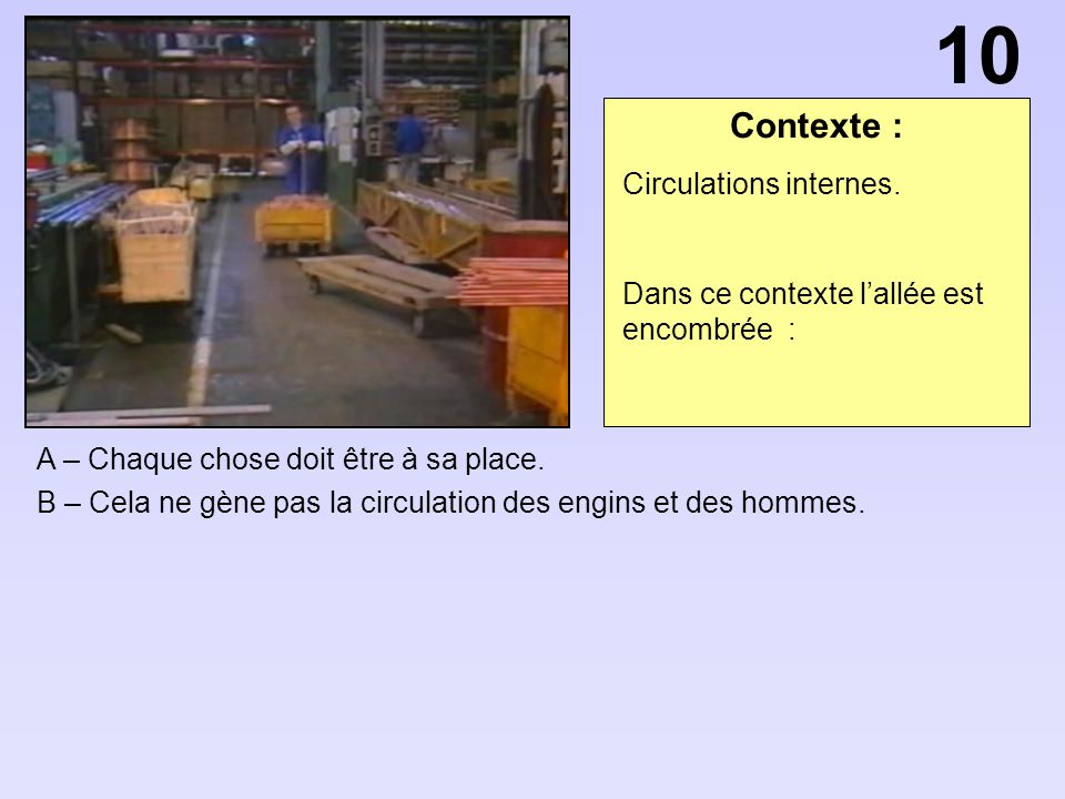 10 Contexte : Circulations internes.