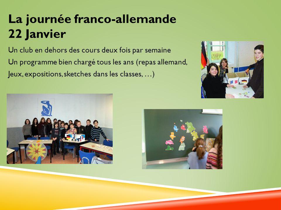 La journée franco-allemande 22 Janvier