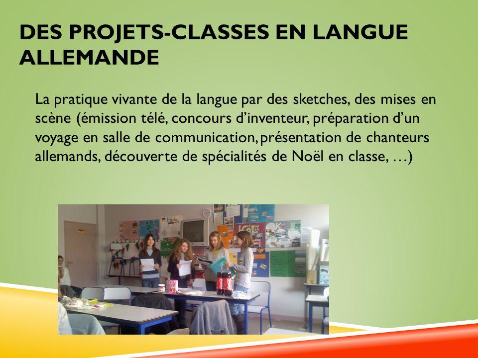 Des projets-classes en langue allemandE