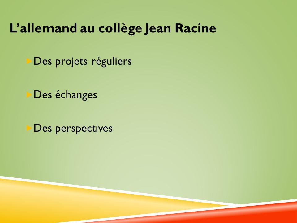 L'allemand au collège Jean Racine
