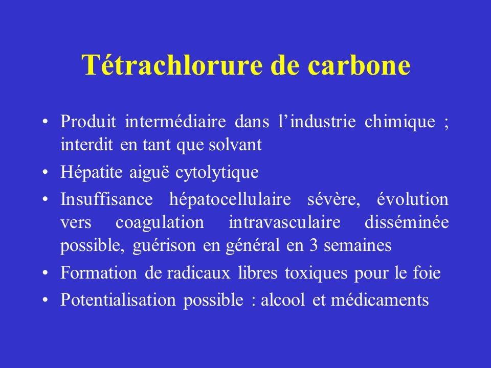 Tétrachlorure de carbone