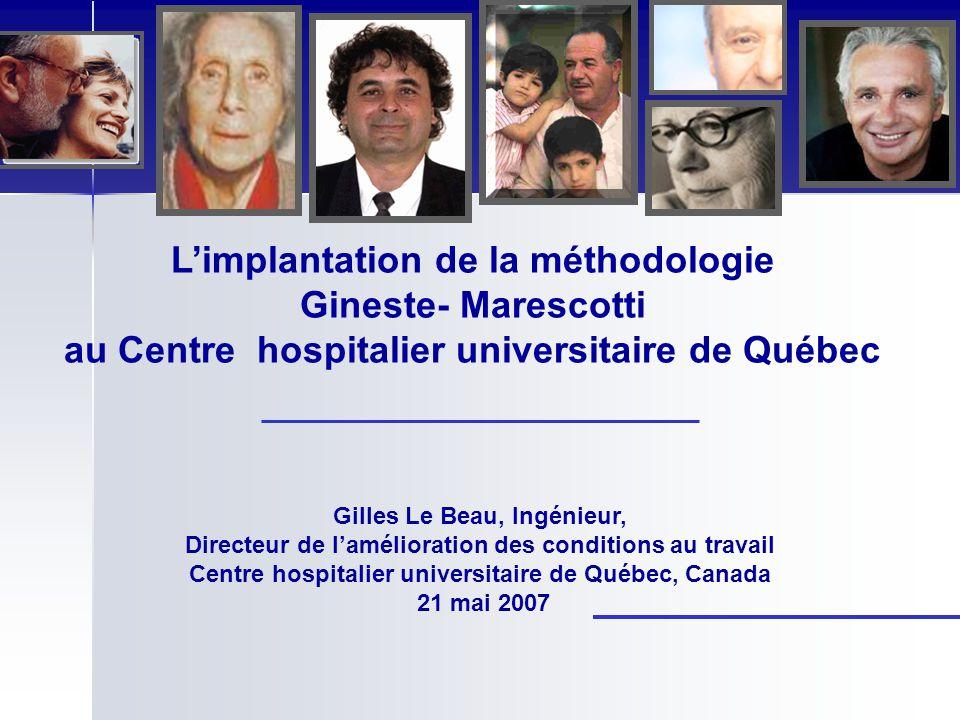 L'implantation de la méthodologie Gineste- Marescotti au Centre hospitalier universitaire de Québec