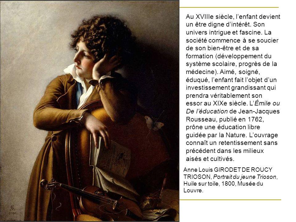 Au XVIIIe siècle, l'enfant devient un être digne d'intérêt