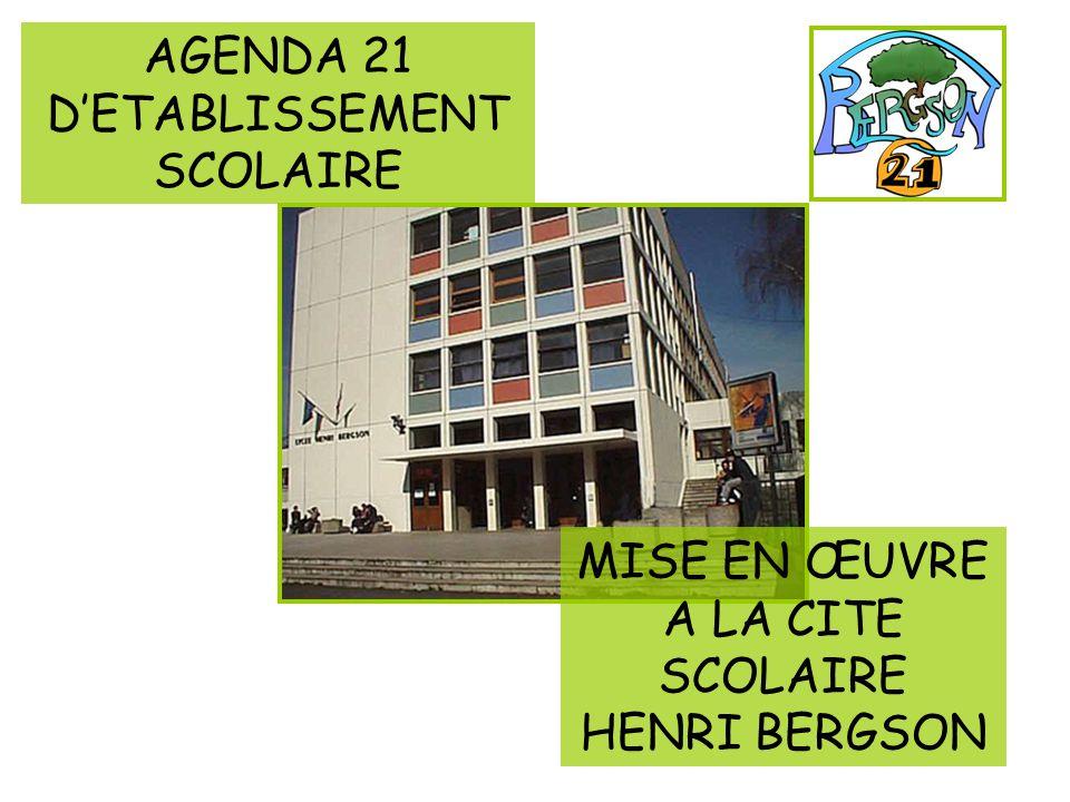 AGENDA 21 D'ETABLISSEMENT SCOLAIRE