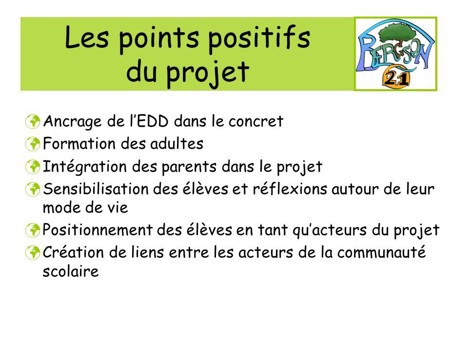 Les points positifs du projet