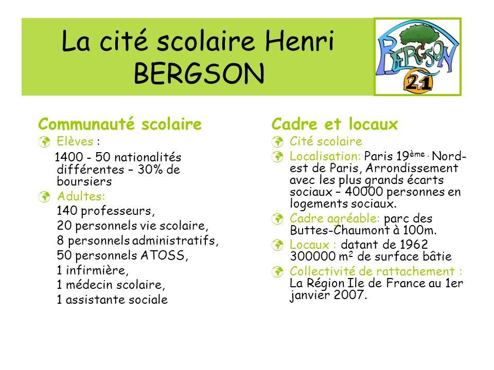 La cité scolaire Henri BERGSON