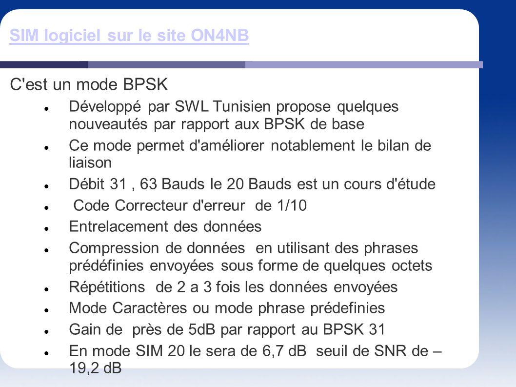 SIM logiciel sur le site ON4NB