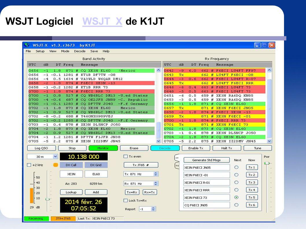 WSJT Logiciel WSJT_X de K1JT