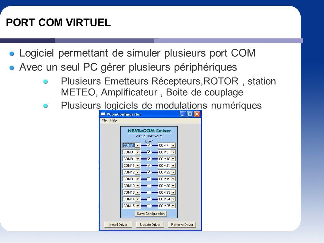 Logiciel permettant de simuler plusieurs port COM