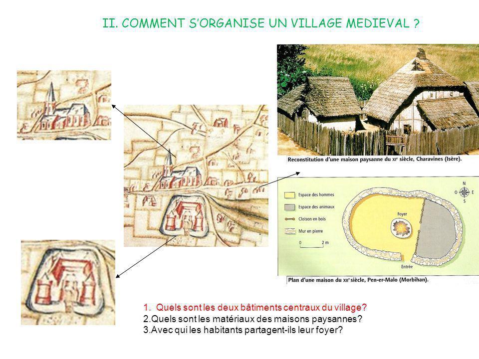 II. COMMENT S'ORGANISE UN VILLAGE MEDIEVAL