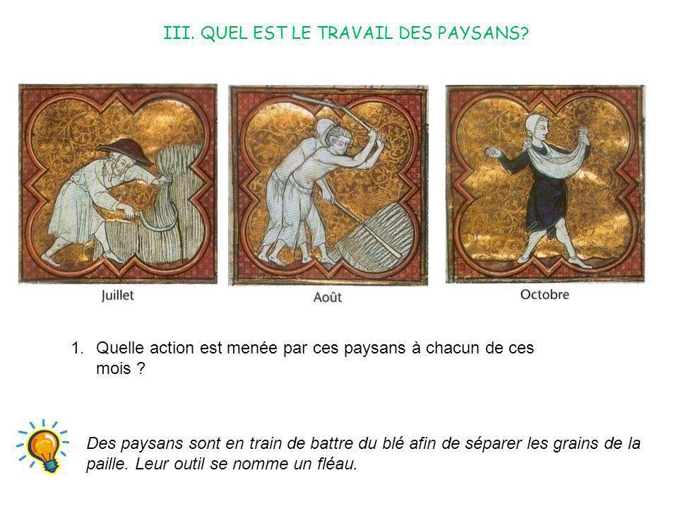 III. QUEL EST LE TRAVAIL DES PAYSANS