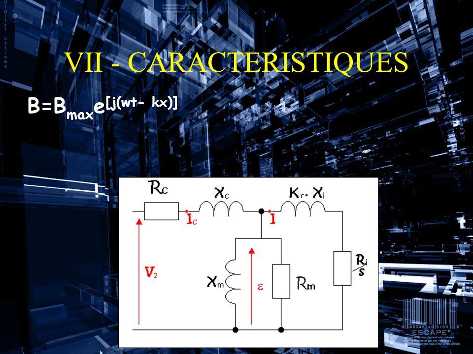 VII - CARACTERISTIQUES