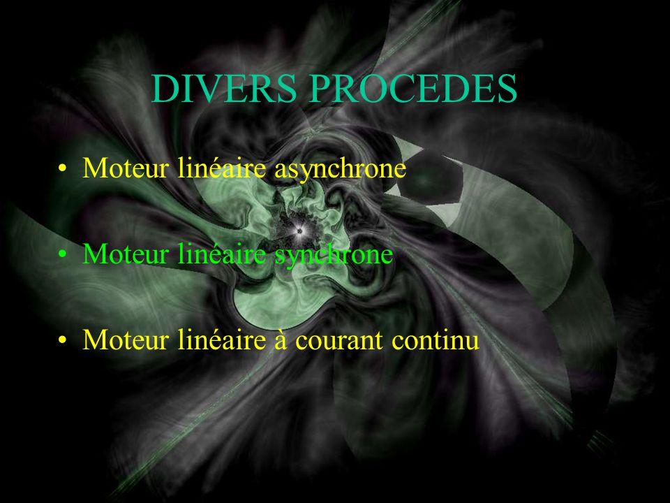 DIVERS PROCEDES Moteur linéaire asynchrone Moteur linéaire synchrone
