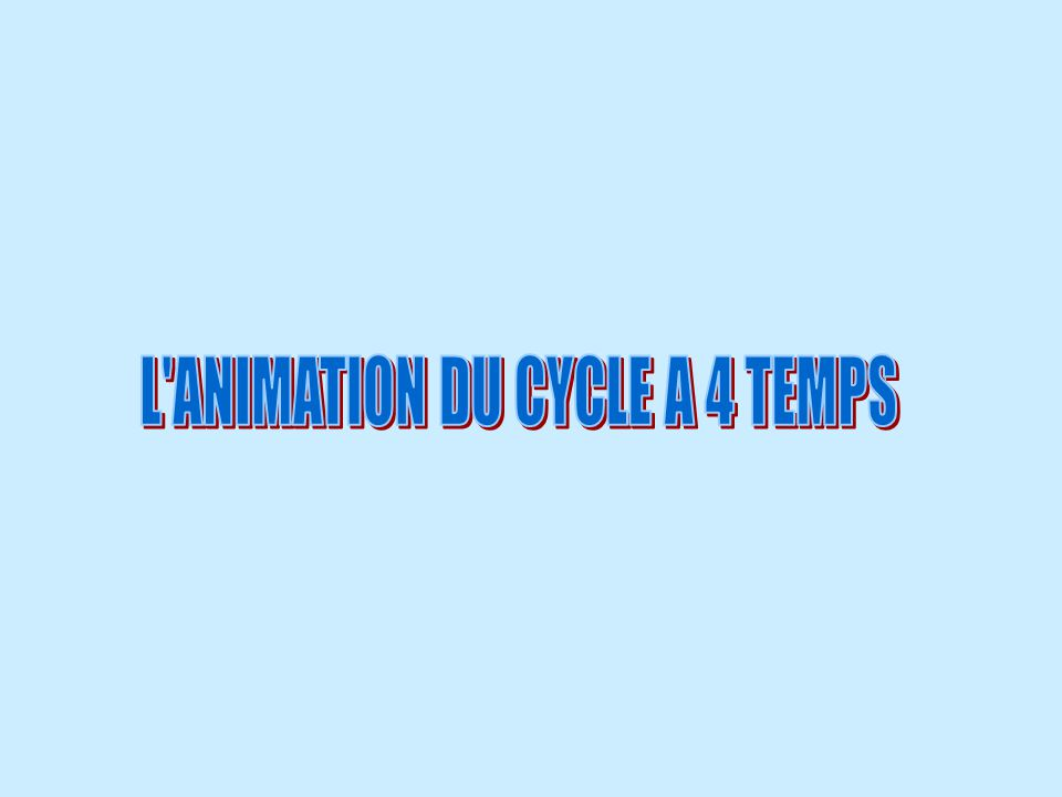 L ANIMATION DU CYCLE A 4 TEMPS