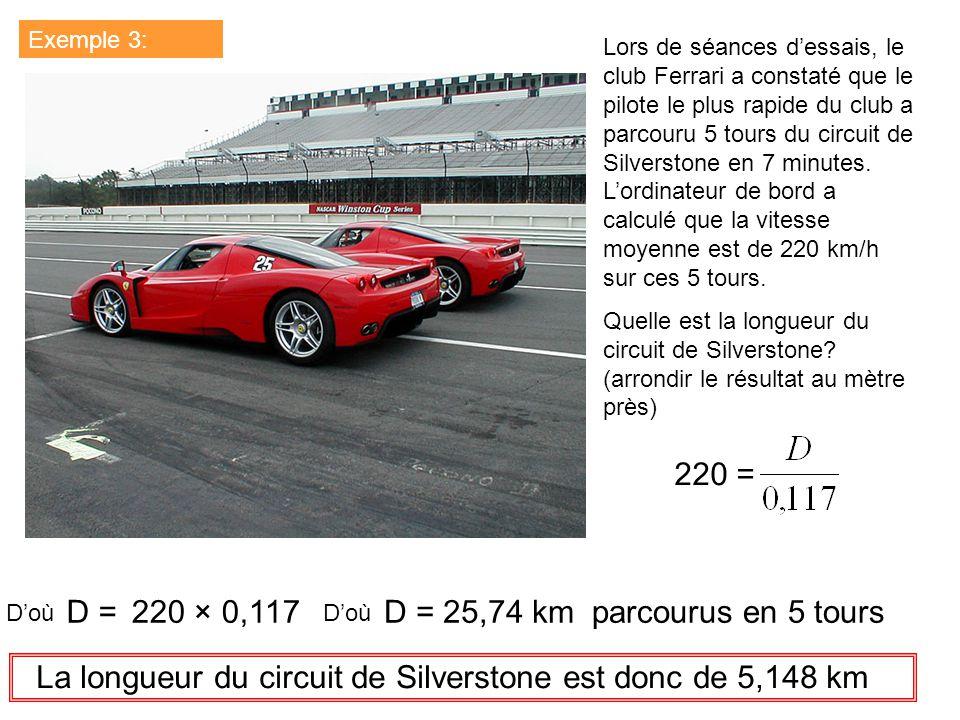 La longueur du circuit de Silverstone est donc de 5,148 km