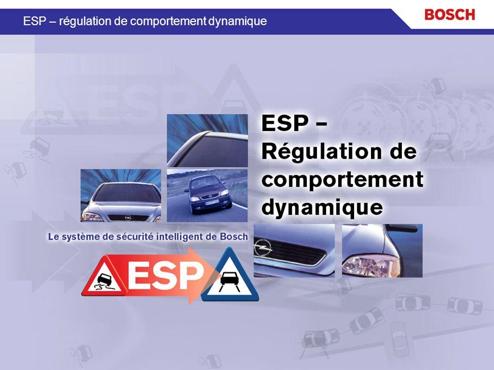 ESP – régulation de comportement dynamique