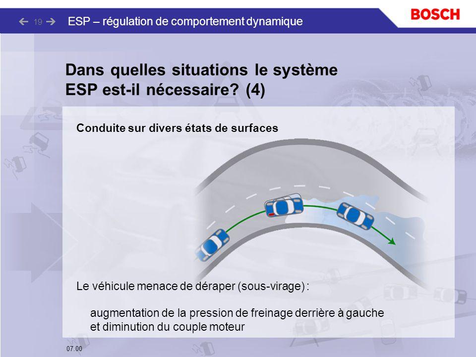 Dans quelles situations le système ESP est-il nécessaire (4)