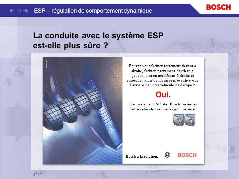 La conduite avec le système ESP est-elle plus sûre