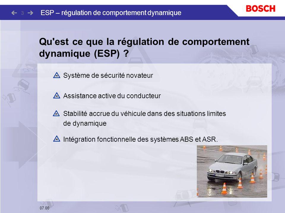 Qu est ce que la régulation de comportement dynamique (ESP)