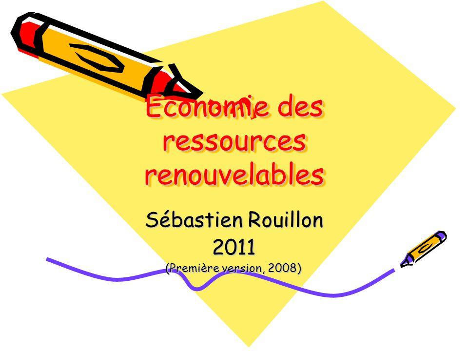 Economie des ressources renouvelables