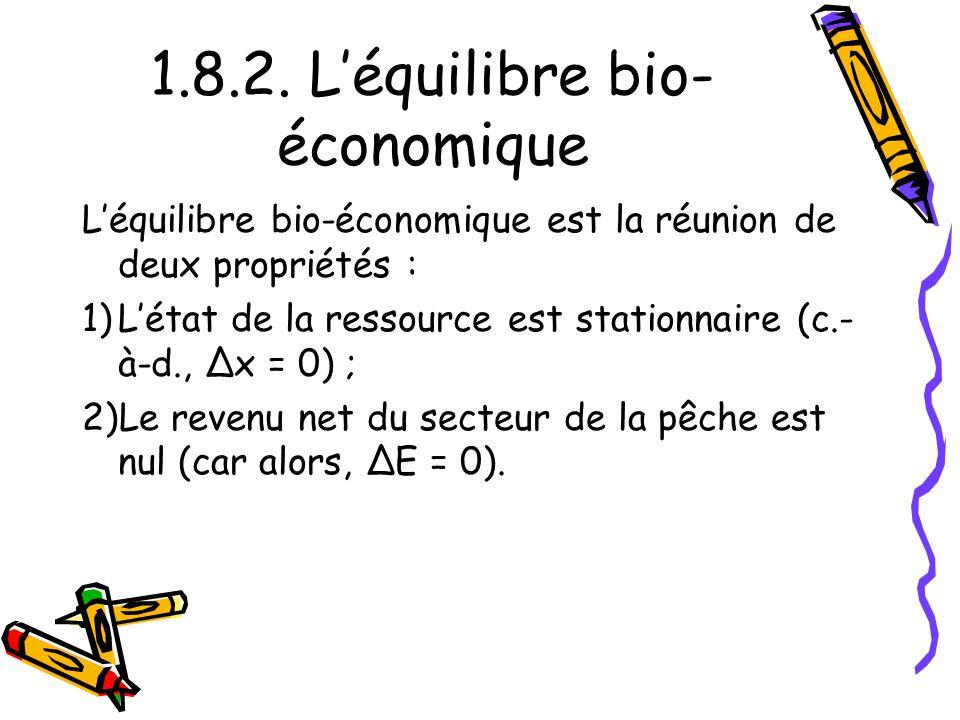 1.8.2. L'équilibre bio-économique
